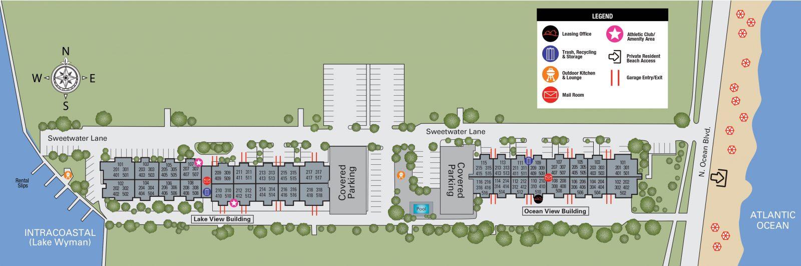 TGM Oceana Apartments Map