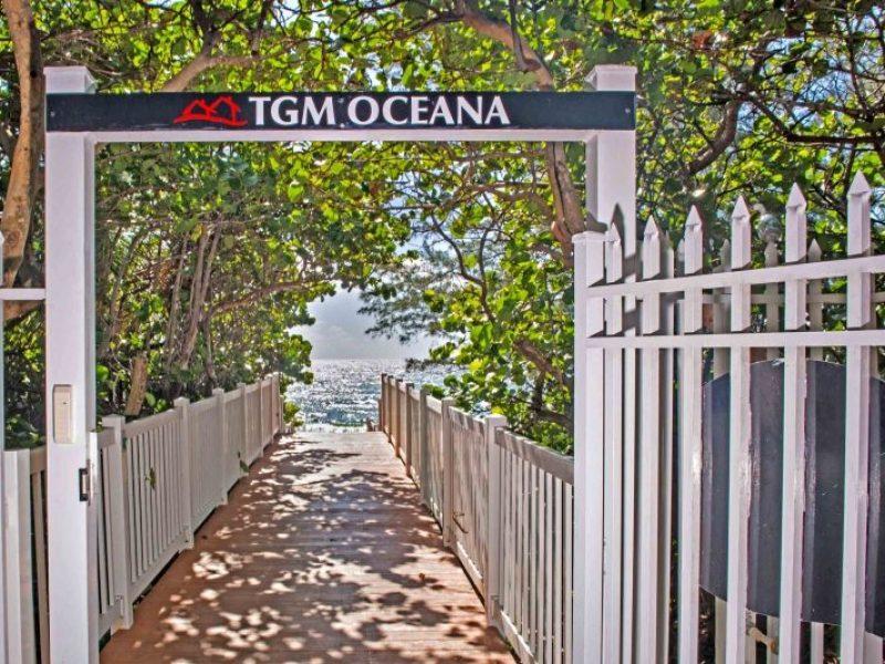 TGM Oceana Private Beach Signage